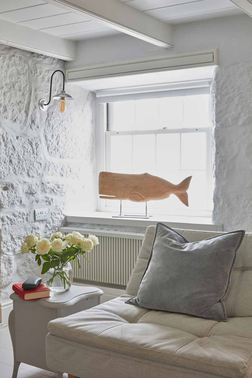 window at luxury cottage in cornwall to rent