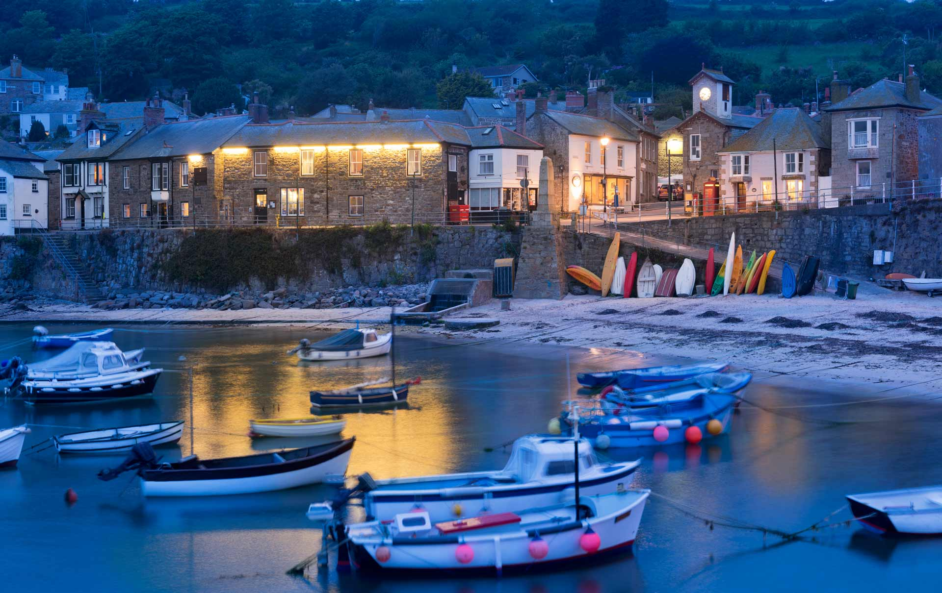 view at our self catering cottage in Mousehole,