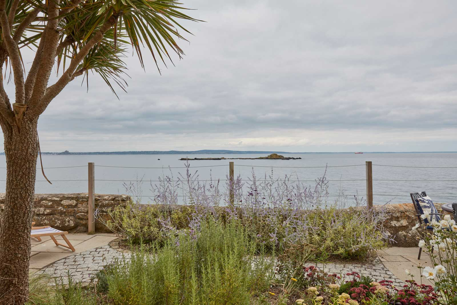 sea view at our self catering cottage in cornwall