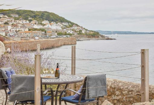 sea view at the luxury holiday cottage in mousehole cornwall