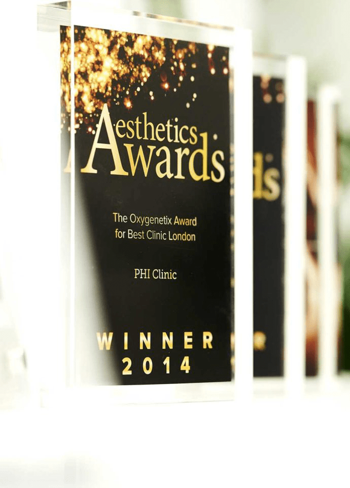 Safe and effective results - Multi award winning clinic aesthetics awards london