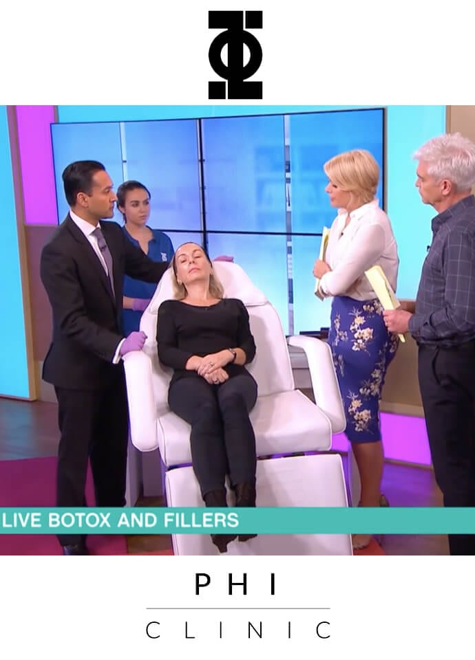 Dr Tapan in the Media - phi clinic this morning holly willoughby 690x960