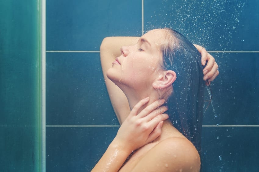 lady in shower